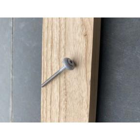 RVS schroef met sluitring torix grijs gecoat (zinkkleur) 60mm